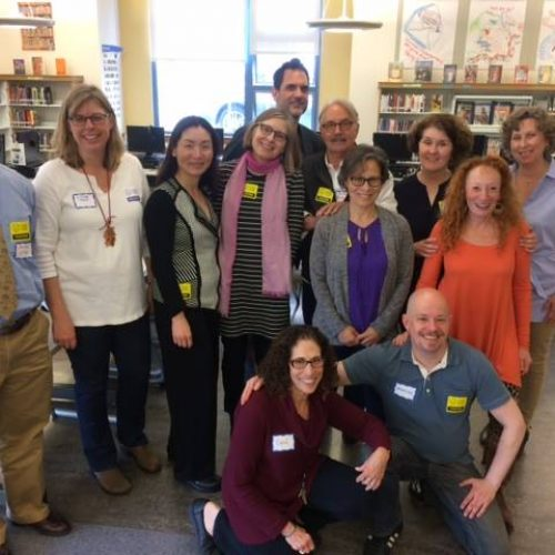 With fellow authors at Dianne Feinstein Elementary in SF